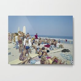 1970's Surfing Competition in Virginia Beach, VA Metal Print