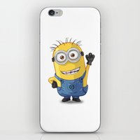 phil jones iPhone & iPod Skins featuring Minion - Phil by Konstantin Veter