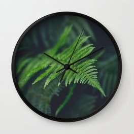 fairy fern Wall Clock