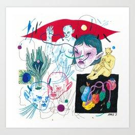 on the brain Art Print