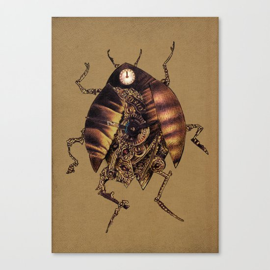 Clock Beetle Canvas Print