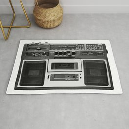 cassette recorder / audio player - 80s radio Rug