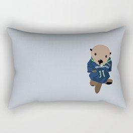 The Littlest Seahawks Fan Rectangular Pillow