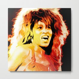 Tina - Queen of Rock and Roll - Turner - Pop Art Metal Print