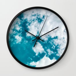 Sky Blue - Clouds Skyscape Photography Wall Clock