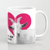 totes Mugs featuring Totes Ma Goats - Red by BACK to THE ROOTS