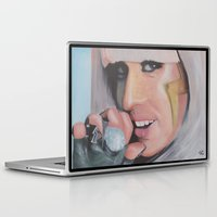 poker Laptop & iPad Skins featuring Poker Face by LilKure