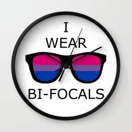 I Wear Bi-Focals Wall Clock