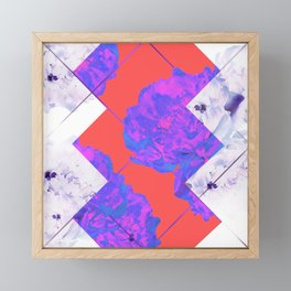 Abstract Geometric Peonies Flowers Design Framed Mini Art Print