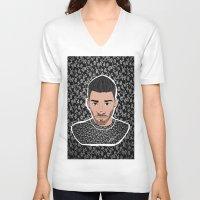 zen V-neck T-shirts featuring Zen by LizDrawsss