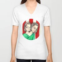 ahs V-neck T-shirts featuring Bette and Dot Tattler (AHS) by Guilherme Mauad