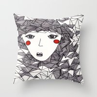 the who Throw Pillows featuring who by Eliza L