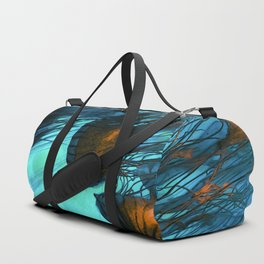 Jellyfish of the Under Sea Volcano Duffle Bag