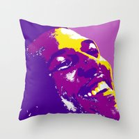 lakers Throw Pillows featuring Swaggy by SUNNY Design