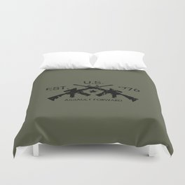 M4 Assault Rifles Duvet Cover