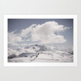 Whistler Summit Art Print