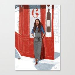 Les Parisiens - Solenne le Sommelier Canvas Print
