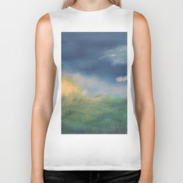 SunnySide Up - Abstract Nature Biker Tank