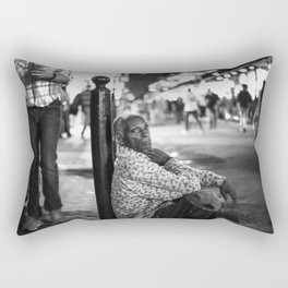 Alone in a Crowded Place Rectangular Pillow