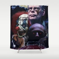 stephen king Shower Curtains featuring Stephen King by Saint Genesis
