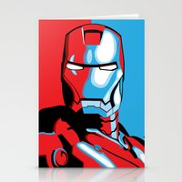 iron man Stationery Cards featuring Iron Man by C.Rhodes Design