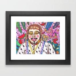 Post Melon Framed Art Print