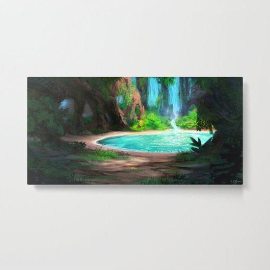 Hidden Lagoon Metal Print