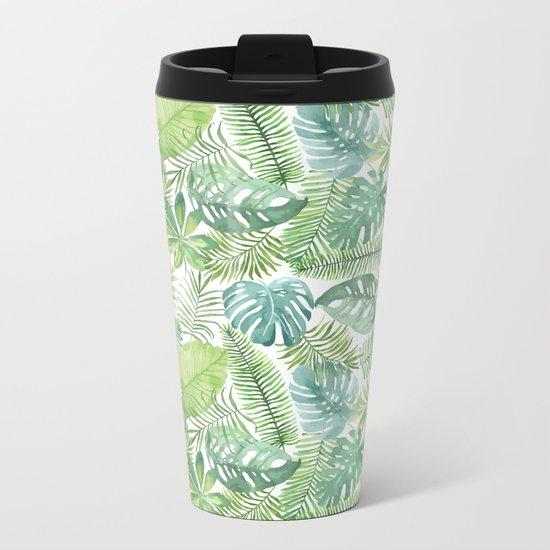 Tropical Branches Pattern 08 Metal Travel Mug