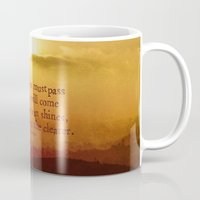 lord of the rings Mugs featuring LORD OF THE RINGS  by Brittney Weidemann