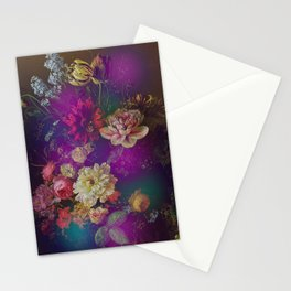 Happy Colorful Vintage Flowers Stationery Cards