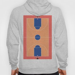 Basketball Court l Aerial Illustration  Hoody