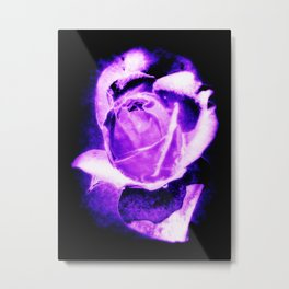 Purple Rain (Black Background) Metal Print