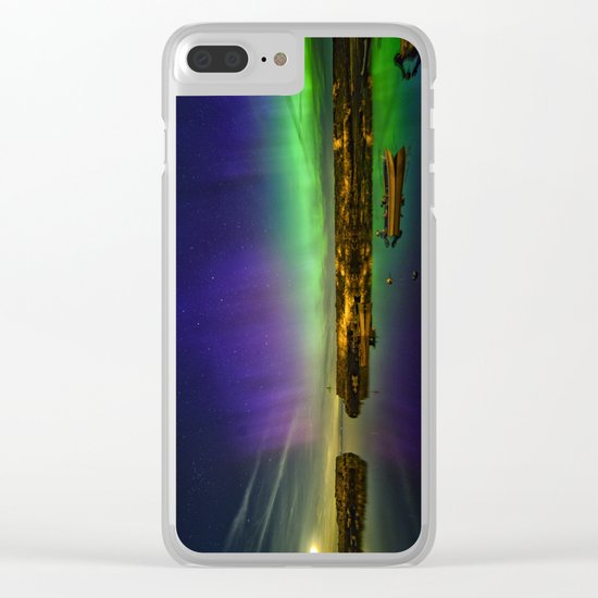 "Lanescove Aurora ""redo"" Clear iPhone Case"