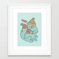 introvert Framed Art Prints featuring introvert by gotoup