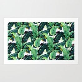 Tropical Banana leaves pattern Kunstdrucke