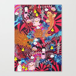 Japanese mash up Canvas Print