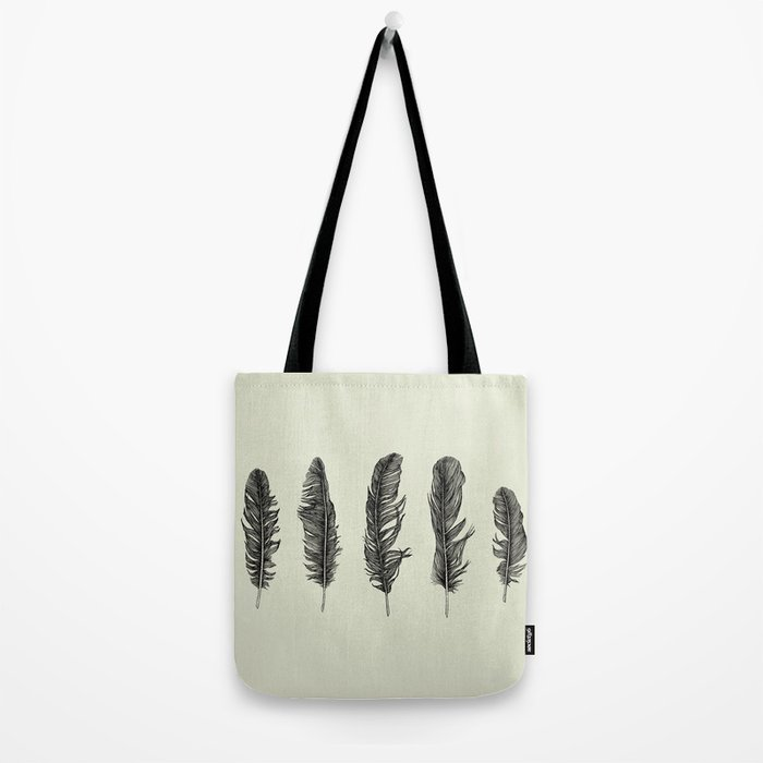 Lucky Five Feathers Tote Bag