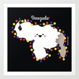 Venezuela en flor Art Print
