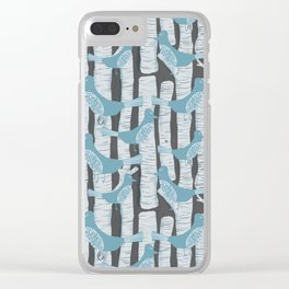 For the Birds and Birch Trees Clear iPhone Case
