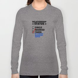 Mushroom Hunter Relationship Status Long Sleeve T-shirt