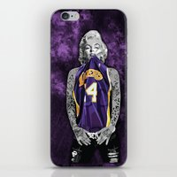 lakers iPhone & iPod Skins featuring Marilyn Monroe Los angeles Lakers with tattoos by Three Second
