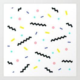 Memphis pattern 59 Art Print