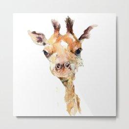 Miley The Giraffe Metal Print