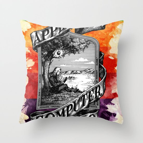 The Apple iVolution Throw Pillow