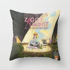 Ziggy Stardust - Book 3 - Bowie Throw Pillow