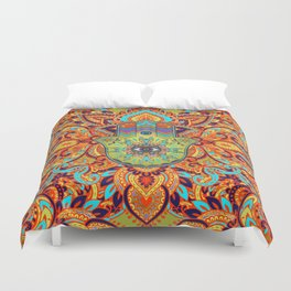Colorful  Hamsa Hand -  Hand of Fatima Duvet Cover
