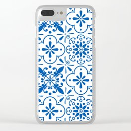 Azulejos Portugese tiles pattern Clear iPhone Case