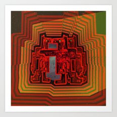 Three's a Crowd / Robotics Art Print