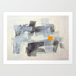 Orange Square Art Print