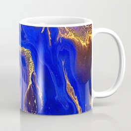 Marble gold and deep blue Coffee Mug